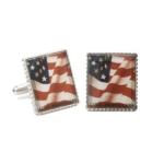 American Flag Stamp Cufflinks