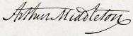 Arthur Middleton Signature
