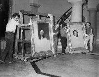 Athenaeum Portrait being moved
