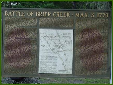 The Battle of Brier Creek Historical Marker