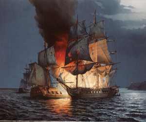 Battle of  Flamborough Head by Roy Reynolds