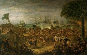 Battle of Fort Moultrie by John Blake White