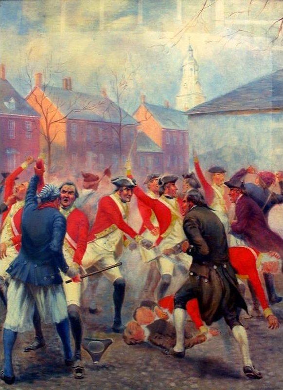 Battle of Golden Hill, NY, Jan 19, 1770 by Charles MacKubin Lefferts, 1920