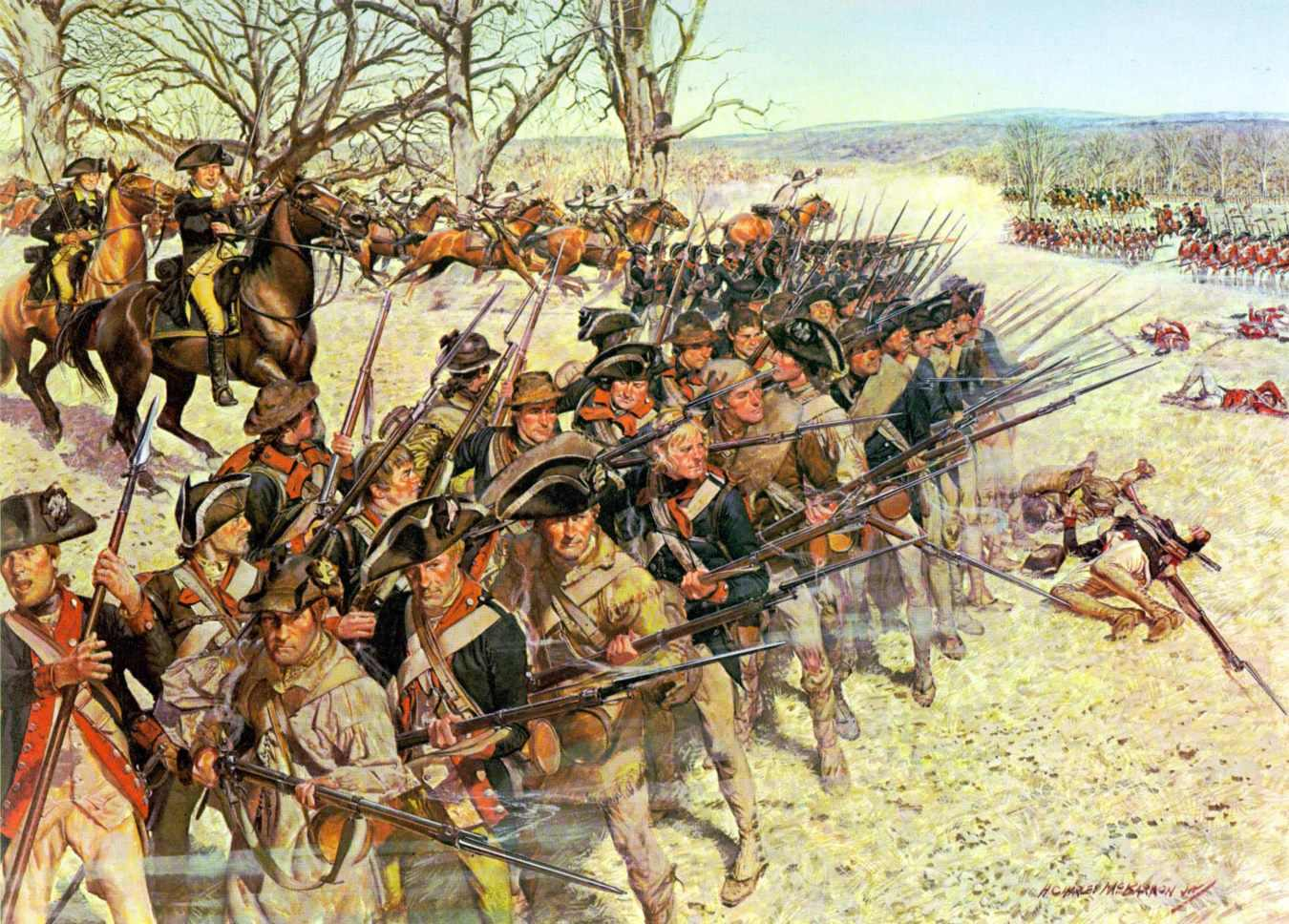 Battle of Guilford Courthouse by Hugh Charles McBarron, Jr.