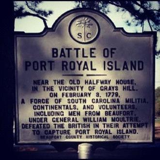 Battle of Port Royal Island Historic Marker