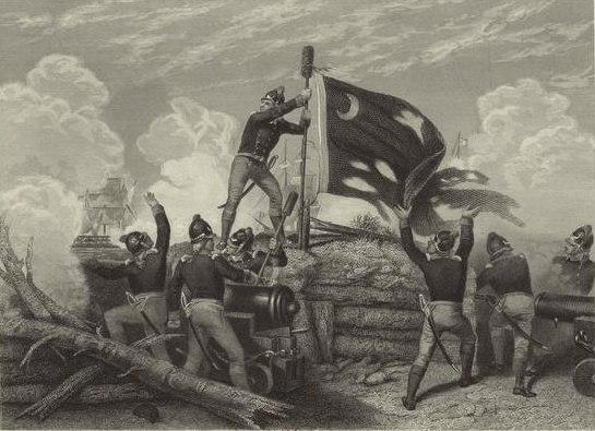 Battle of Sullivan's Island by Johannes Oertel