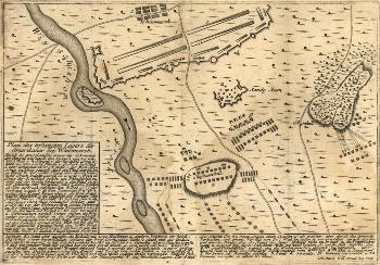 Battle of White Marsh Map