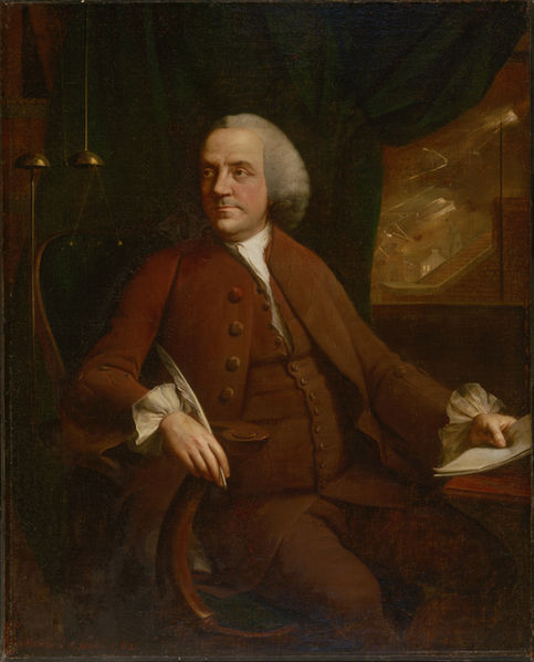 Benjamin Franklin of Philadelphia by Mason Chamberlin, 1762