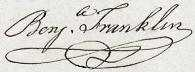 Benjamin Franklin Signature