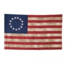 Betsy Ross Antiqued Flag 2.5'x4' Cotton