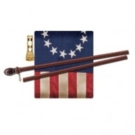 Antiqued Home Flag Set - Betsy Ross Flag
