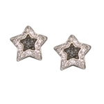 Black Star Sterling Silver Earrings