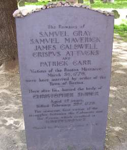 Boston Massacre victims grave