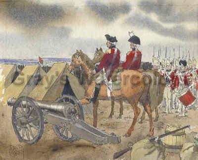 British Reaching Camp, Fort Lee watercolor