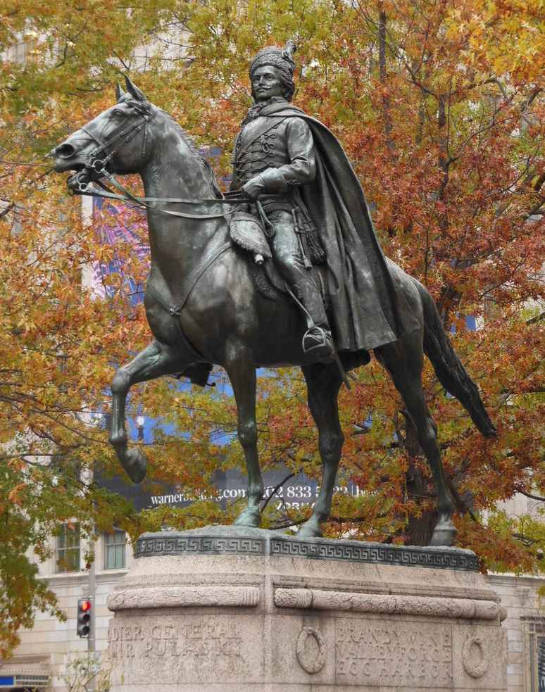 Casimir Pulaski statue, Freedom Plaza, Washington DC