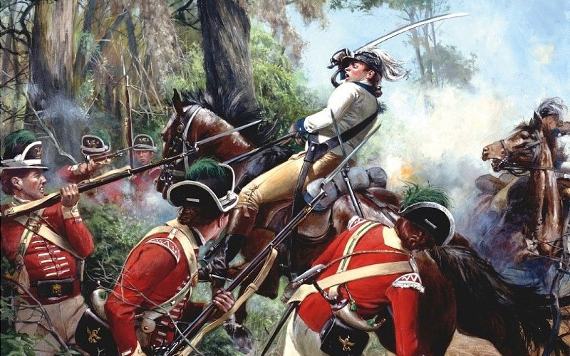 Colonel Washington at the Battle of Eutaw Springs by Don Troiani