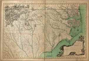 Colonial map of North Carolina in 1770