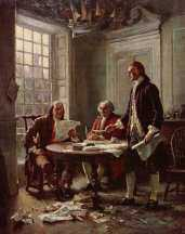 Committee of Five - John Adams, Benjamin Franklin, Thomas Jefferson