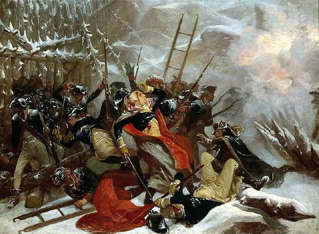 Death of General Richard Montgomery on 31st December 1775 by Alonzo Chappel