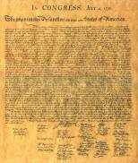 Declaration of Independence Stone Engraving