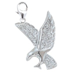 Diamond Eagle Charm