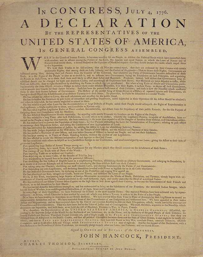 The Declaration Of Independence Text