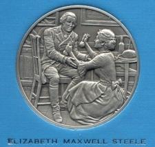 Elizabeth Maxwell Steele Pewter Medallion