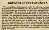 First known printing of Star Spangled Banner 
