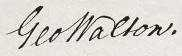George Walton Signature