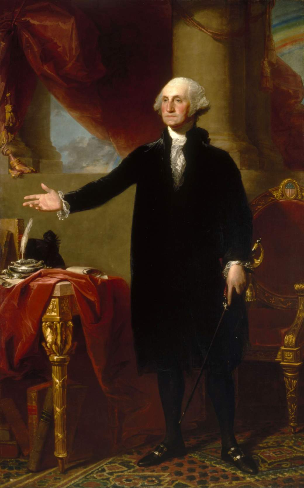 George Washington Lansdowne Portrait by Gilbert Stuart