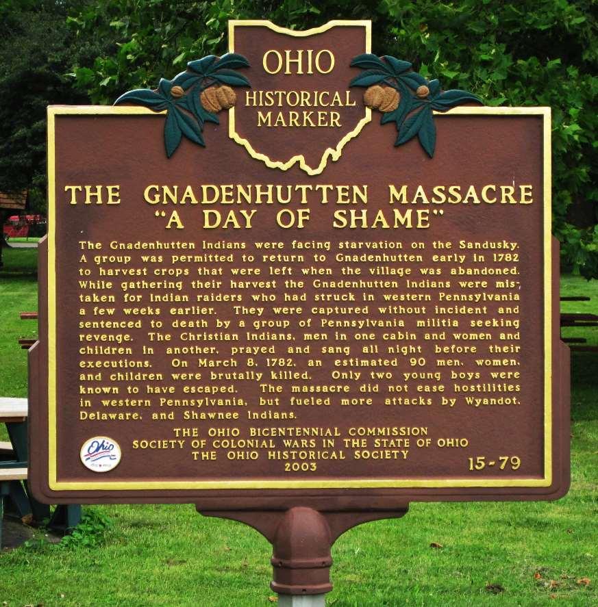 Gnadenhutten Massacre Historical Marker