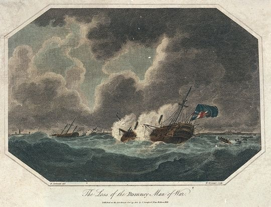 The Loss of the Romney Man of War by Richard Corbould