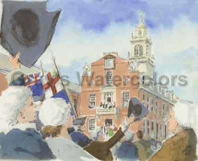 Independence, 1776 Watercolor