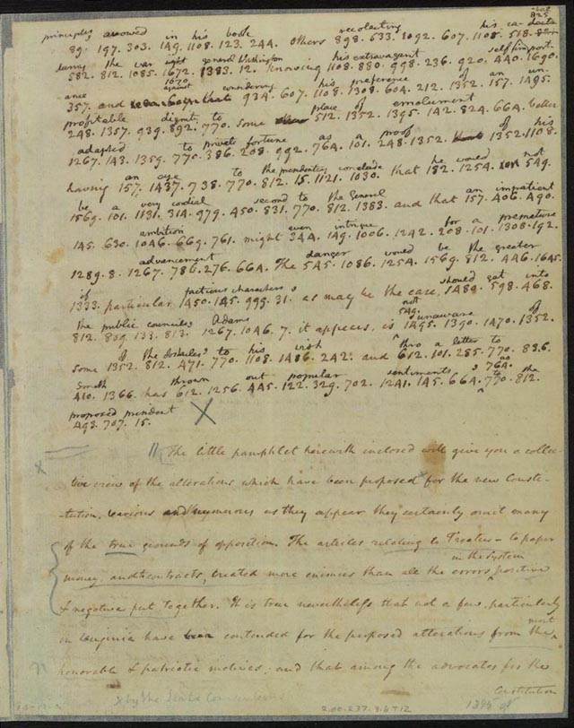 James Madison letter to Thomas Jefferson, October 17, 1788