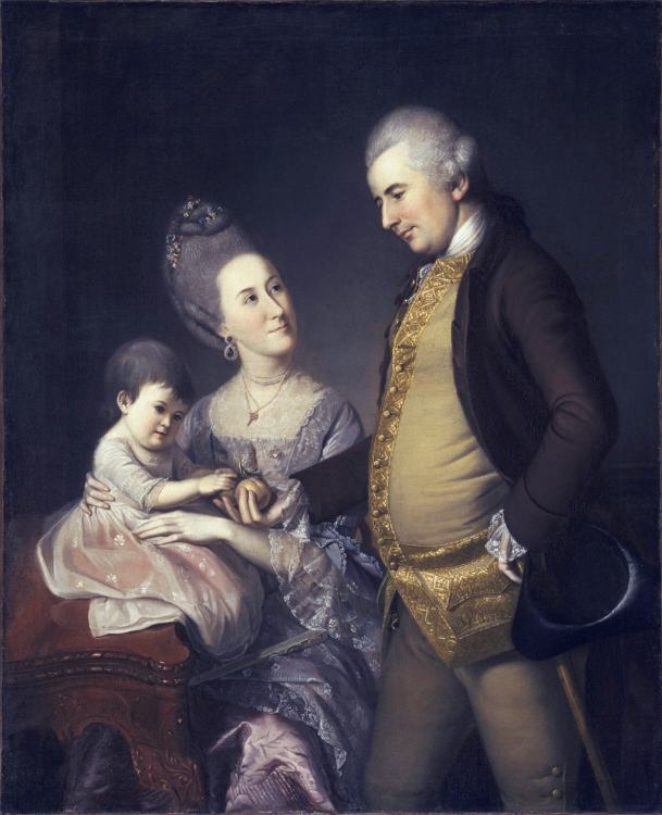 John and Elizabeth Lloyd Cadwalader and their Daughter Anne by Charles Willson Peale, 1772