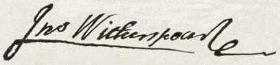 John Withespoon Signature
