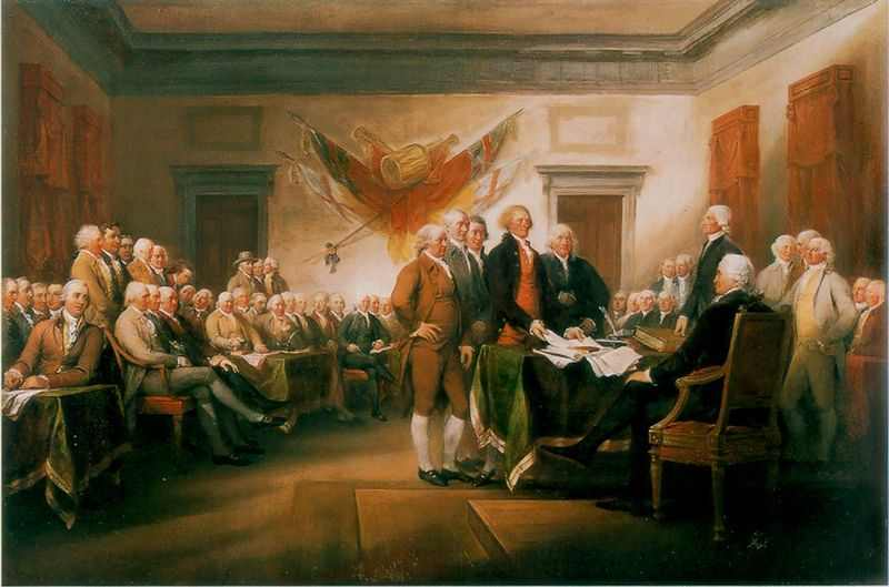 Signing of the Declaration of Independence by Jonathan Trumbull