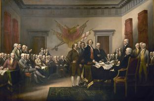 Signing the Declaration of Independence by Jonathan Trumbull