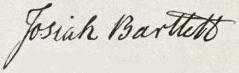 Josiah Bartlett Signature