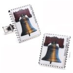 Liberty Bell Stamp Cufflinks