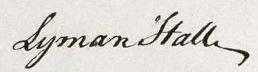 Lyman Hall Signature