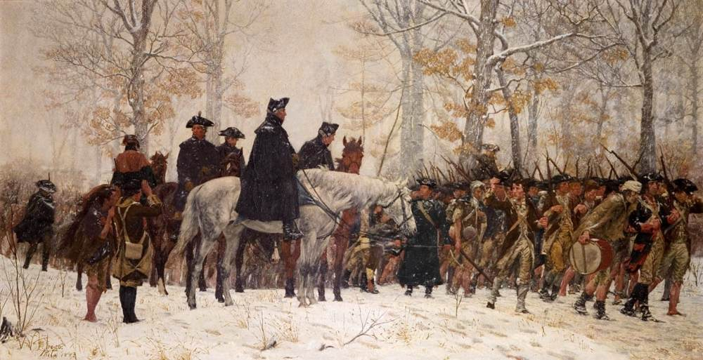 The March to Valley Forge by William Trego