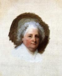 Martha Washington by Gilbert Stuart