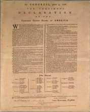 Mary Catherine Goddard Declaration of Independence