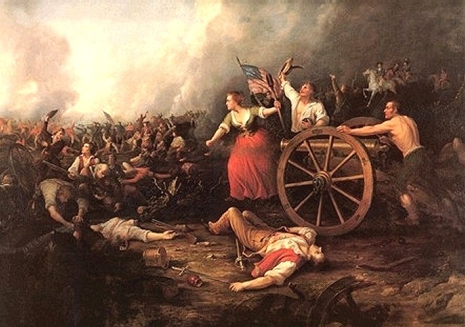 Molly Pitcher at the Battle of Monmouth by Dennis Malone Carter