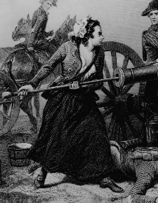 Molly Pitcher at the Battle of Monmouth by JC Armytage, 1859
