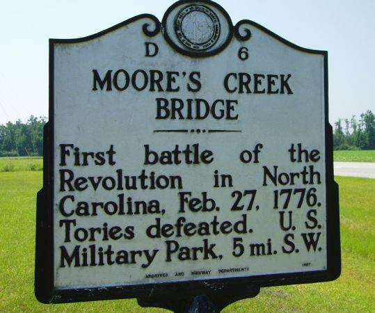 Moore's Creek Bridge Historical Marker