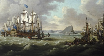 Relief of Gibraltar by Earl Howe by Richard Paton