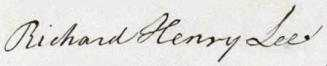 Richard Henry Lee Signature