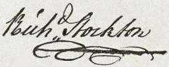 Richard Stockton Signature